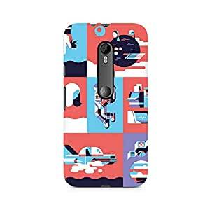 Mobicture Abstract Travel Premium Printed Case For Moto G3