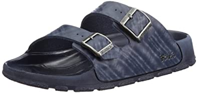 Birkis sandals Haiti in size 43.0 W EU made of Birko-Flor in Brights Blue with a regular insole