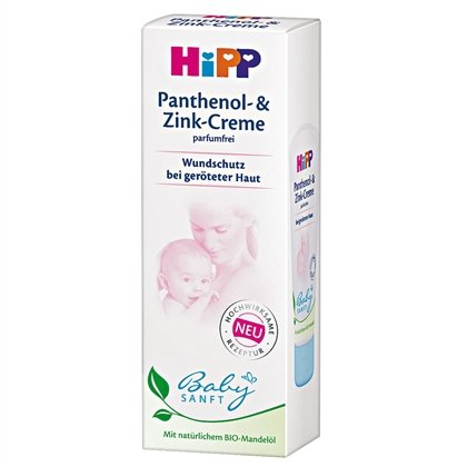 Hipp Baby Sanft Gentle Panthenol & Zinc Wound Protection Cream 75Ml / 2.54 Oz. With Organic Almond Oil