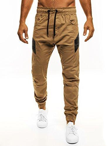 OZONEE Uomo Jogger Chino Jogging Pantaloni Cascante Pantaloni Sport Jogging Fitness ATHLETIC 706 - cotone, Hellcamel, 100% cotone 100% cotone.\n\t\t\t\t, Uomo, XL