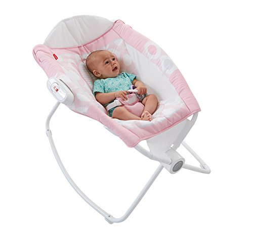 Fisher-Price Newborn Rock 'n Play Sleeper, Pink Ellipse