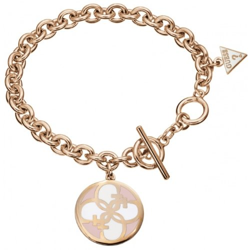 "Guess Uptown Girl Ladies 6.5 - 8"" G Disc Charm Bracelet - UBB10417 thumbnail"