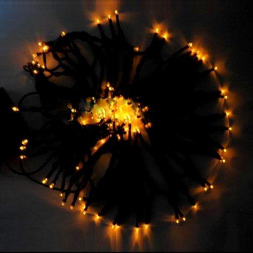 100 Led Light Solar String Lamp Festival Deco Yellow J03256