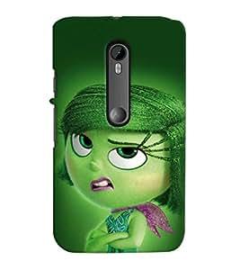 Printvisa Scouled Faced Girl Back Case Cover for Motorola Moto G3::Motorola Moto G (3rd Gen)