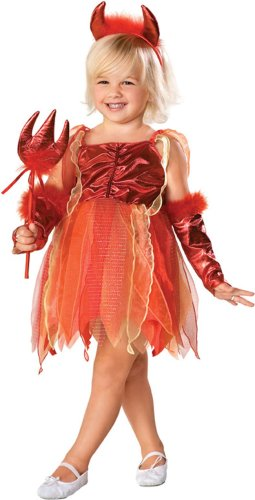 Child's Toddler Girl Devil Dress Costume