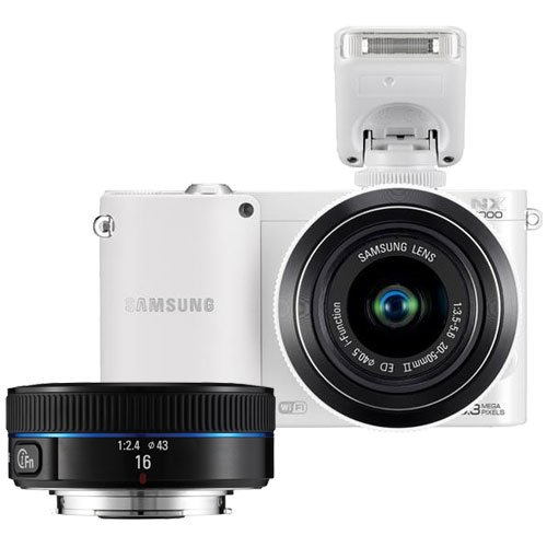 41Db5WX3XvL Samsung NX1000 Smart Wi Fi Digital Camera Body & 20 50mm & 16mm f/2.4 Lens (White)