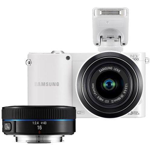 41Db5WX3XvL Samsung NX1000 Smart Wi Fi Digital Camera Body & 20 50mm & 16mm f/2.4 Lens (White)