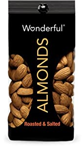 Wonderful Almonds- 7oz Bags Roasted and Salted(4 Bags)