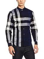 Burberry Camisa Hombre (Azul / Negro / Gris)