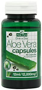 Optima Health Aloe Pura Aloe Vera Double Strength 90 Capsules