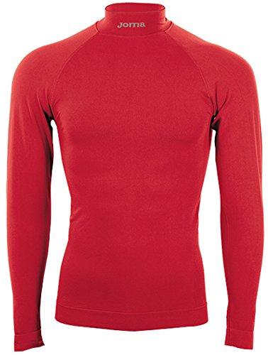Joma Brama Classic - Maglia termica a manica lunga per bambini di 12-14 anni, colore rosso