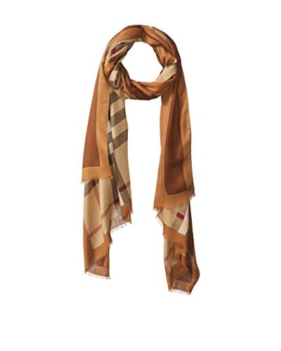 Burberry Women's Checked Scarf, Mid-Camel