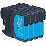 4 Cyan Compatible Brother LC985C Printer Ink Cartridges for Brother DCP-J125, DCP-J140W, DCP-J315W, DCP-J515W, MFC-J265W, MFC-J410, MFC-J415W
