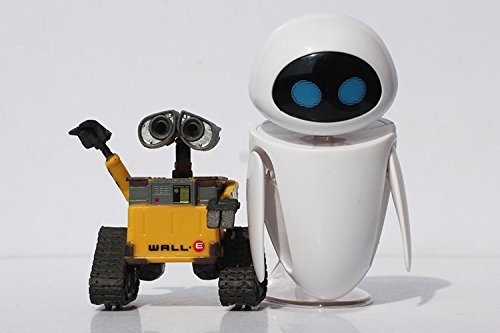 Cartoon Movie Wall E Toy (2pcs/set) Walle Eve Figure Toys Wall-E Robot Figures Dolls (Robots Figures compare prices)