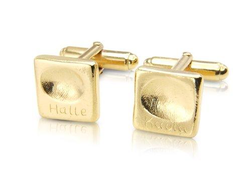 Gold Vermeil Fingerprint Cufflinks