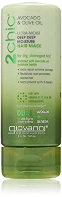 Giovanni 2chic Avocado and Olive Oil Ultra-Moist Deep Moisture Hair Mask, 5 Fluid Ounce