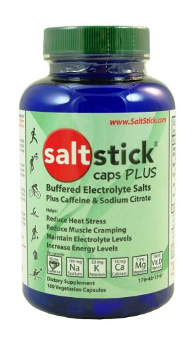 SaltStick Caps Plus Electrolyte Replacement Capsules with Caffeine and Sodium Citrate 100 count bottle (Runners Salt compare prices)