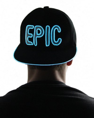 Light Up Hat - Epic (Aqua)