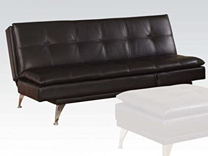 Black PU Adjustable Sofa by Acme Furniture