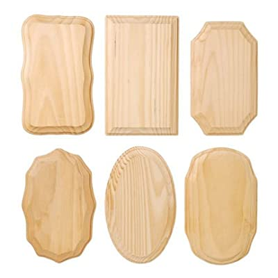 Wood Plaque 35x55 Assorted 6 Styles in Pack