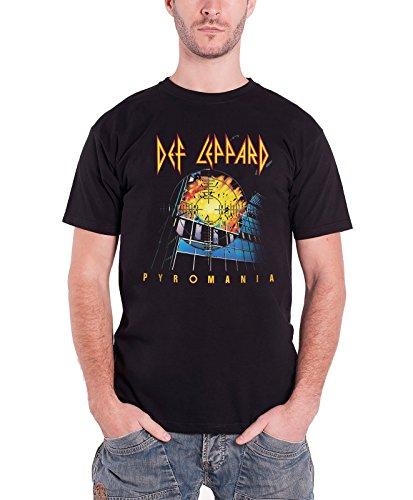 Def Leppard デフ・レパード Pyromania パイロマニア 公式 メンズ ブラック 黒 Tシャツ 全サイズ