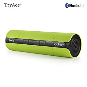 TryAce® Portable Boombox NFC Wireless Bluetooth Speaker, Ultra Bass Booster/Power Crystal-Clear Sound/Subwoofer Sound Effect/Built in Mic for Calls and Rechargeable Battery for iPhone/iPad/iPad Air/All Phones/Samsung Galaxy P