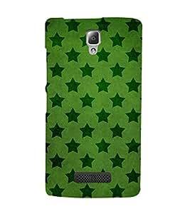 DARK GREEN STARS IN LIGHT GREEN BACKGROUND 3D Hard Polycarbonate Designer Back Case Cover for Lenovo A2010