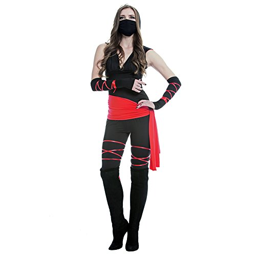 Amurleopaed Women's Ninja Costume Party Halloween Outfit