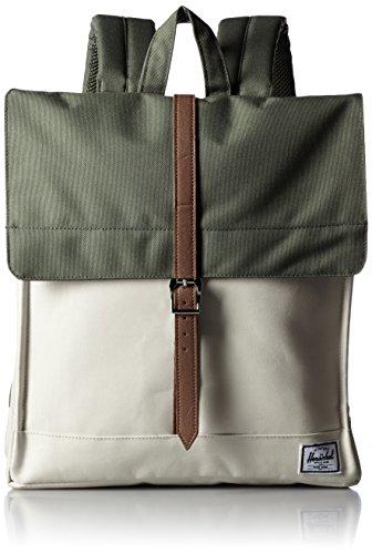 [ハーシェルサプライ] Herschel Supply公式 City Mid-Volume 10089-00923-OS Deep Litchen Green/Natural/Tan Synthetic Leather (Deep Litchen Green/Natural/Tan Synthetic Leather)