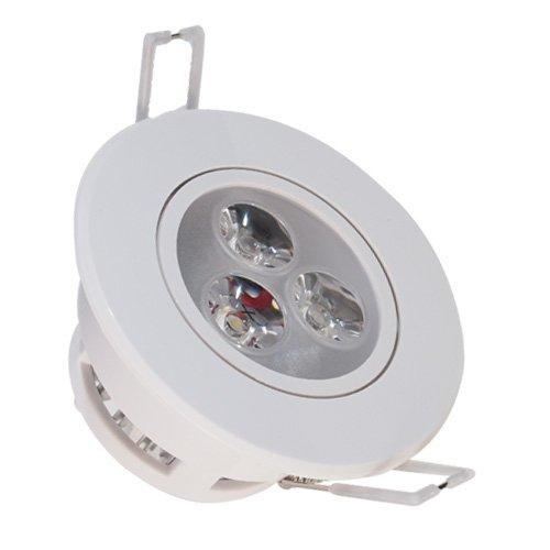 Decorative Recessed LED Ceiling Lamp Down Light Flush Mount 3w (35 Halogen Equivalent) 110v-240v Warm White