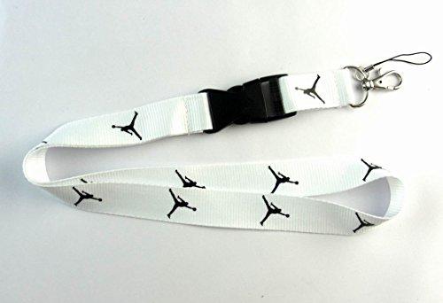 Michael Jordan Lanyard Jumpman Logo White / Black Keychain Holder New* (Jordan Keychain Shoe compare prices)