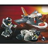 Worthy Playmobil Secret Agent Detection Jet (4877) - Cleva Edition H8' Bundle