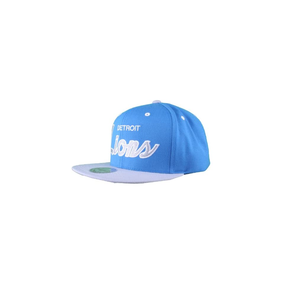 Detroit Lions Mitchell Ness Blue Throwback Vintage Retro