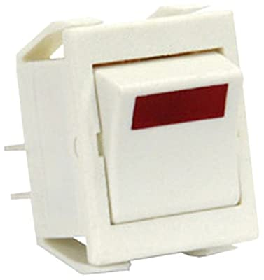 JR Products 13381-5 Red Light SPST On/Off Switch - Pack of 5