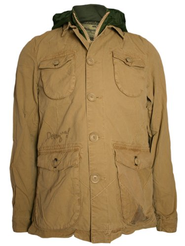 DESIGUAL Men Designer Jacket Hoody - LUDWIG -XXL