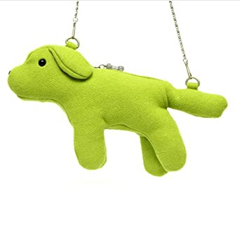 Fuzzy Nation Green Baby Blade Pooch Purse - Love on a Leash Edition