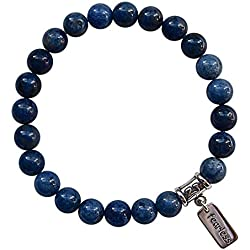 STEP INTO YOUR POWER - Dumortierite Healing Crystal Stretch Bracelet (BBDUM1SR)