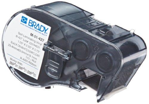 Brady Self Laminating Vinyl Label Tape M 51 427 Black