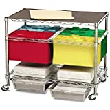 Seville Classics Chrome Letter/Legal File Cart and Organizer (WEB137)