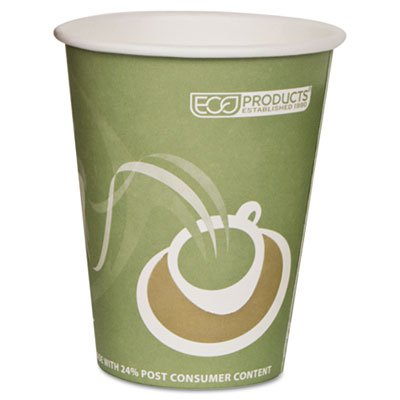 Eco-Products ECOEPBRHC12EWPK Evolution World PCF Hot Cups, Post-Consumer Fiber, Recycled, 12 oz (Pack of 50) from Eco-Products, Inc