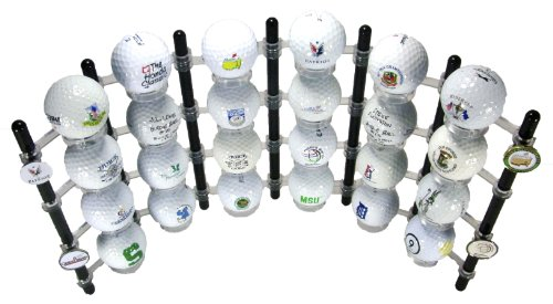 24 Ball Flexible Golf Ball Display Rack & Ball Marker Display (Black) (Golf Poker Chip Display Case compare prices)