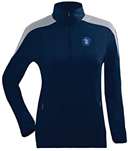 San Diego Padres Ladies Succeed 1 4 Zip Performance Pullover (Team Color) by Antigua