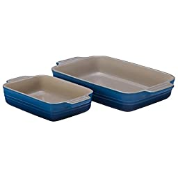 Le Creuset PG051926-59 Stoneware Classic Rectangular Bakers, Marseille