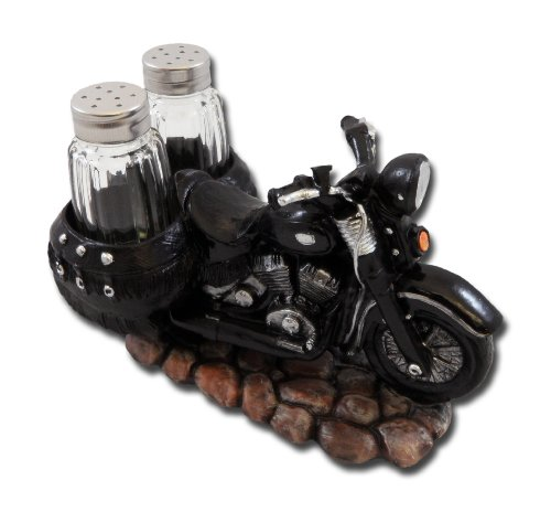 Spice The Open Roads Black Motorcycle Salt and Pepper Set