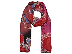 Phive Rivers Women's Scarf Red-PR939