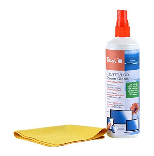 peach-pa104-bildschirm-reinigungsspray-250-ml-inkl-mikrofasertuch