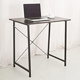 C&AHOME- Computer Desk PC Laptop Study Table Workstation for Home Office, Black
