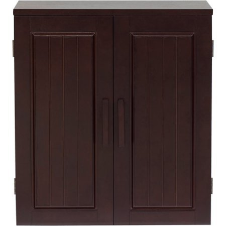 Elegant Home Fashions Dolce Wall Cabinet, Dark Espresso (Unfinished Kitchen Base Cabinets compare prices)