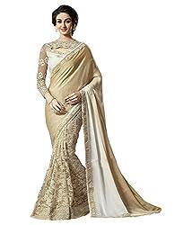 Meera Trendz Women's Georgette Saree(amar_Chiku)