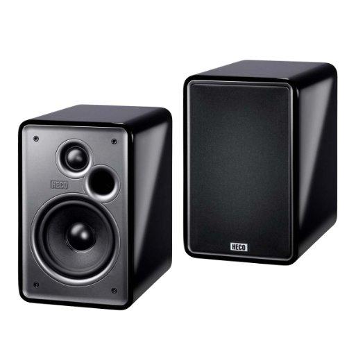 Heco Music Colors 100 2-Wege Bassreflex Regal-Lautsprecher (70/120 Watt) schwarz (Paar)